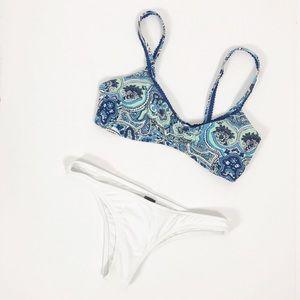 Aerie Paisley Print Nasty Gal Cheeky Bikini Set